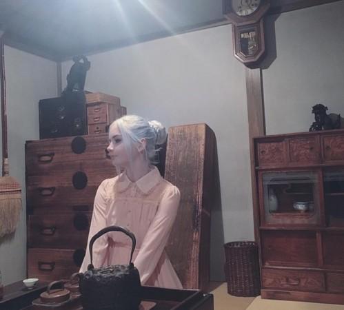 ▲▼Icy于4月参观日本的博物馆(Shitamashi Museum)。(图/翻摄自Instagram/nordic_alien_)
