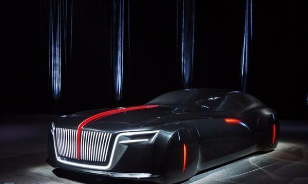 红旗汽车概念雕塑模型亮相 同场加映新LOGO及未来车系编成