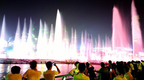 芜湖三山区莲花湖音乐喷泉开放时间?