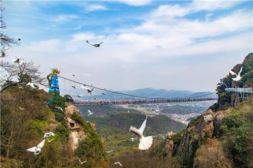 """芜湖繁昌马仁奇峰""""百鸟飞越玻璃桥""""是什么?现场图"""