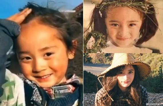 青海玉树6岁男童撞脸杨幂 网友:简直太像了