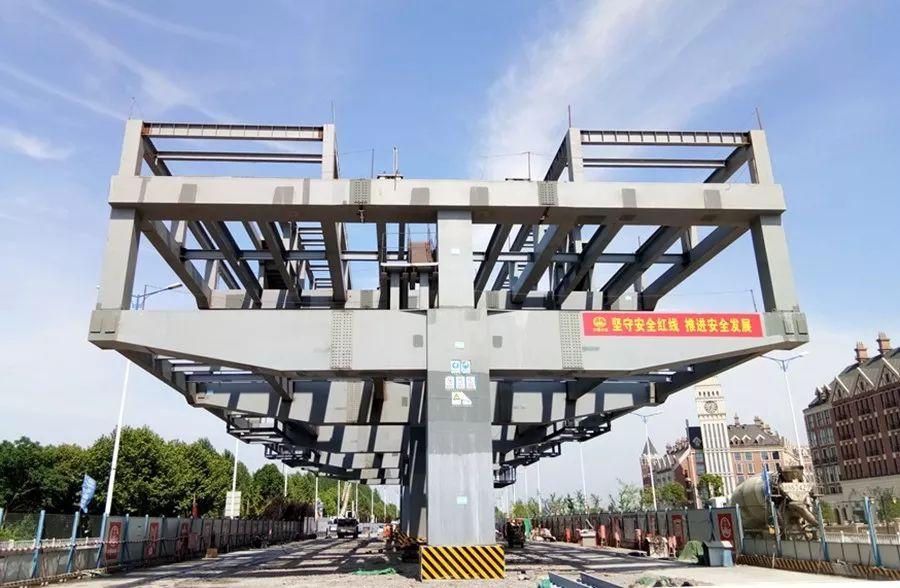 蕪湖軌道交通2號線方特樂園站架梁完成