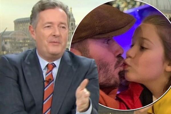 ▲▼皮爾斯摩根(Piers Morgan)批評大衛貝克漢親吻女兒。(圖/翻攝自《早安英國》)