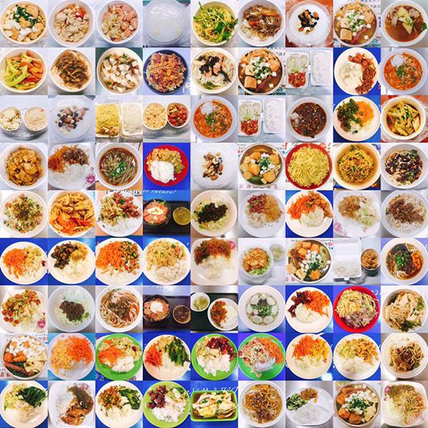 ▲▼湖南女學生拍四年大學食堂飯菜圖爆紅網路。(圖/翻攝自微博)