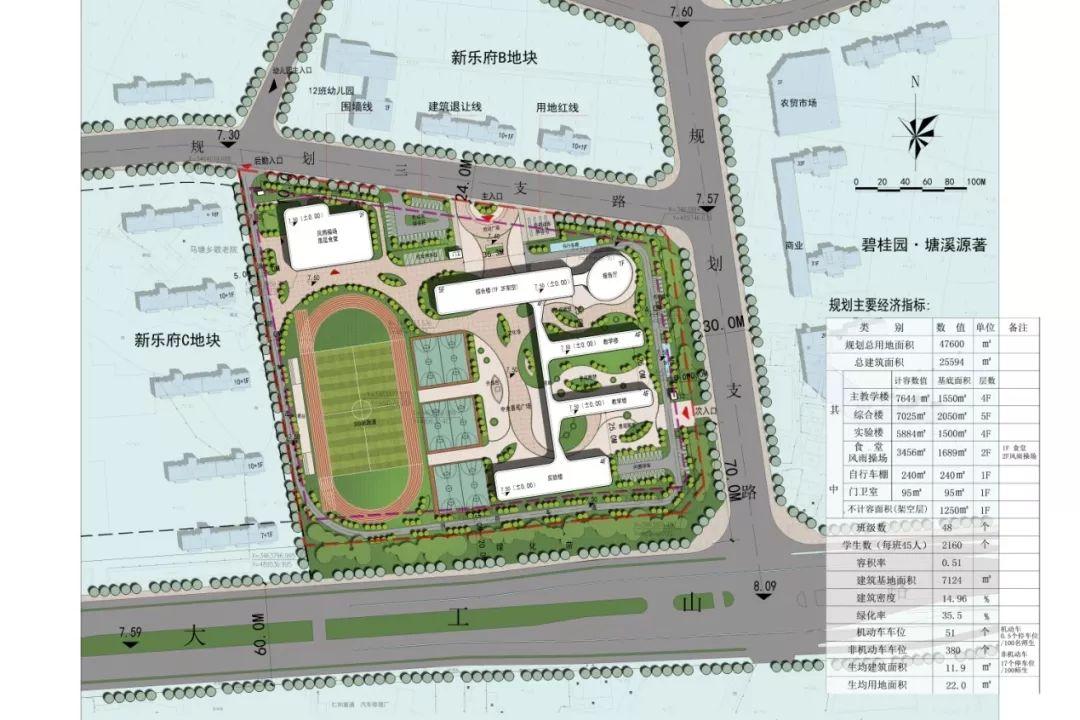 48个班!芜湖元亩塘小学最新设计图曝光,工程总投资7400万