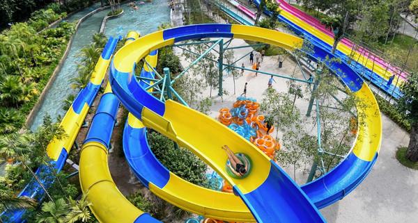 ▲馬來西亞檳城ESCAPE主題公園正建造長達1140米的滑水道。